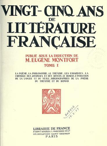 Download Vingt-cinq ans de littérature française.