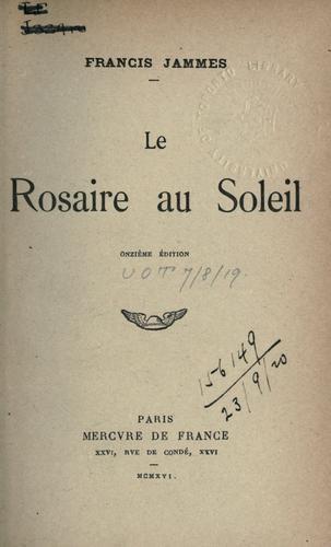 Le rosaire au soleil.
