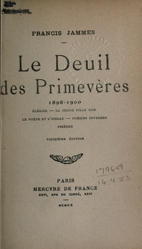 Le deuil des primevères, 1898-1900.