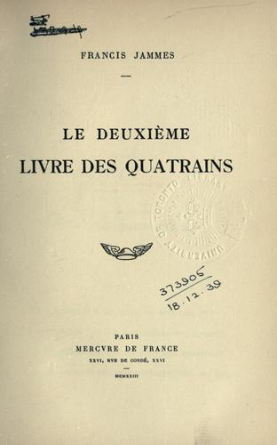 Le deuxième livre des quatrains.