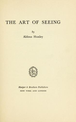 Download The art of seeing