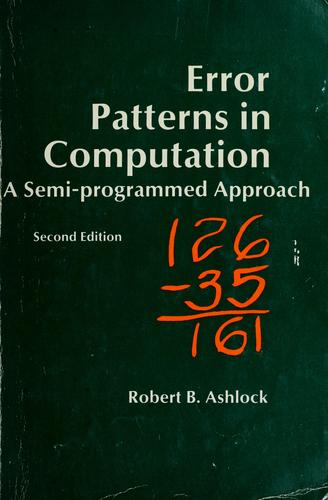 Download Error patterns in computation
