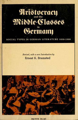 Download Aristocracy and the middle-classes in Germany
