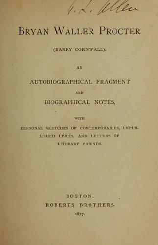 Download An autobiographical fragment and biographical notes