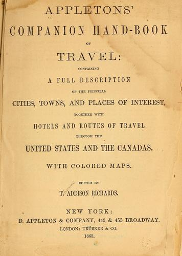 Appleton's companion hand-book of travel by Thomas Addison Richards