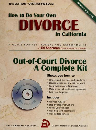 Download How to do your own divorce in California