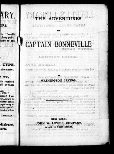 Download The adventures of Captain Bonneville