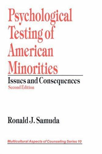 Download Psychological testing of American minorities
