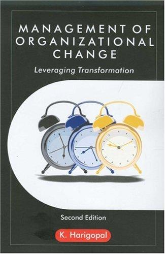 Download Management of organizational change
