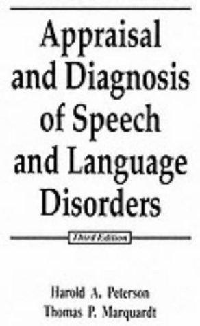 Download Appraisal and diagnosis of speech and language disorders