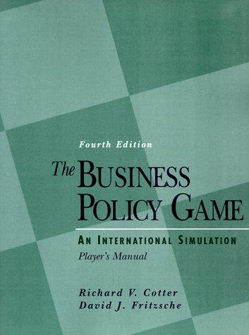 Download The business policy game