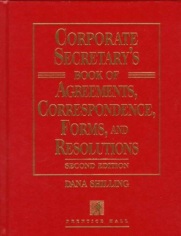Corporate secretary's book of agreements, correspondence, forms, and resolutions