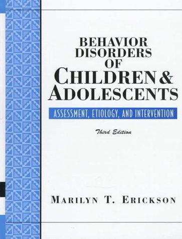 Download Behavior disorders of children and adolescents
