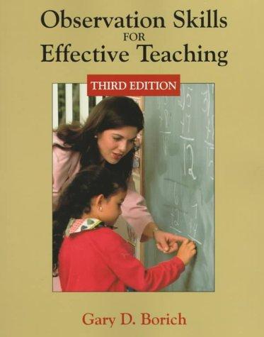 Download Observation skills for effective teaching