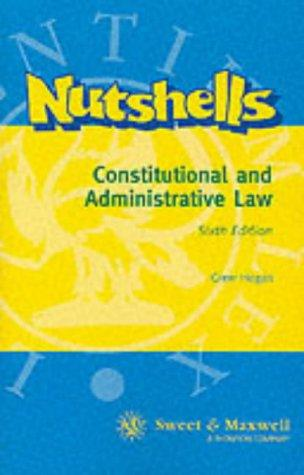 Constitutional and administrative law in a nutshell.