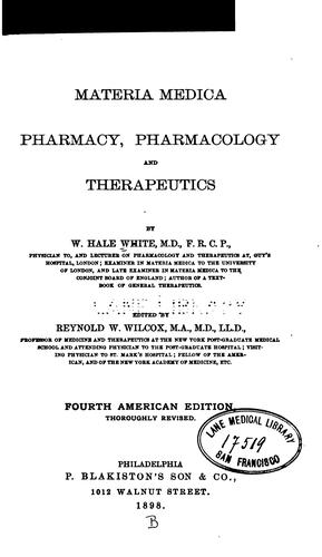 Download Materia medica, pharmacy, pharmacology, and therapeutics