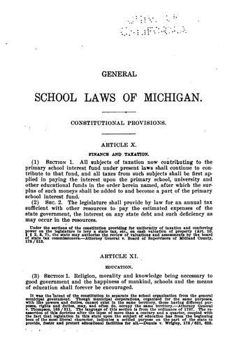General school laws.