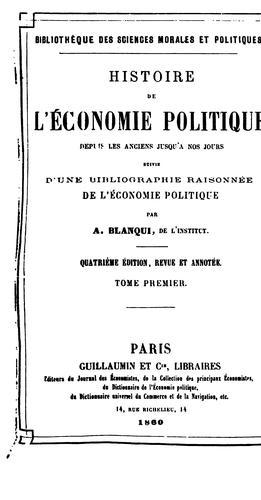Histoire de l'économie politique en Europe