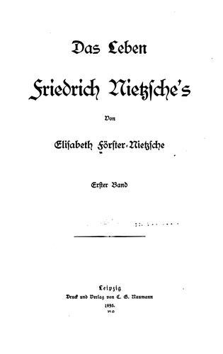 Download Das leben Friedrich Nietzsche's