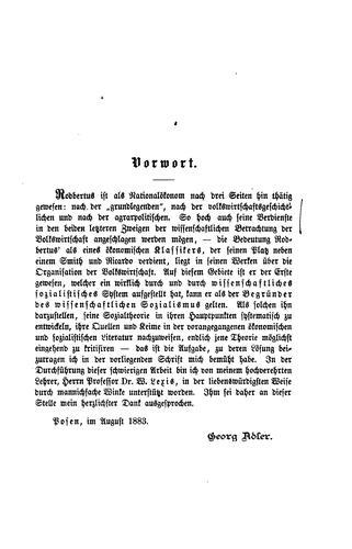 Rodbertus, der begründer des wissenschaftlichen Sozialismus.