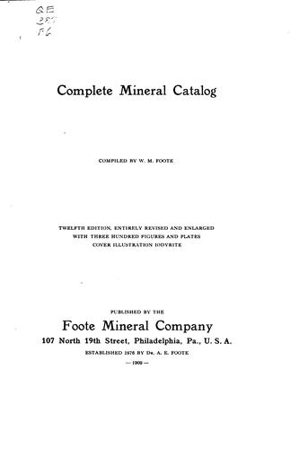 Download Complete mineral catalog