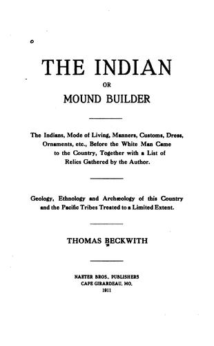 Download The Indian, or mound builder