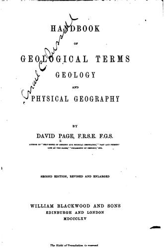 Download Handbook of geological terms, geology and physical geography