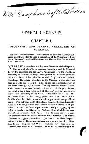 Download Sketches of the physical geography and geology of Nebraska.