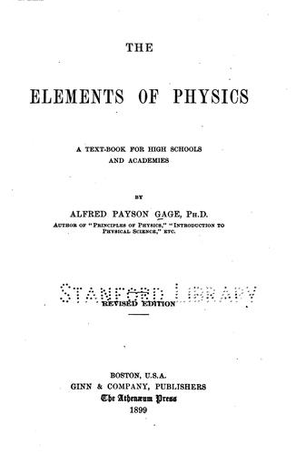 Download The elements of physics