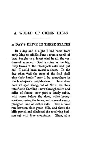 Download A world of green hills