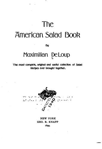 The American salad book