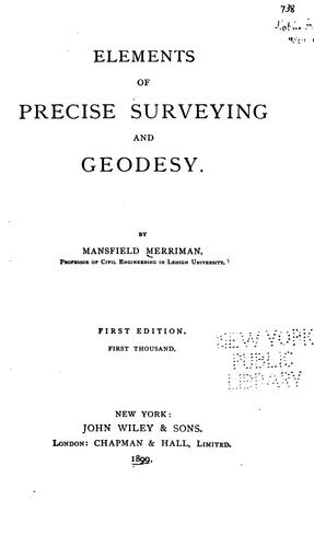 Download Elements of precise surveying and geodesy.