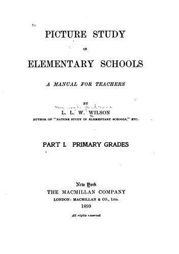 Download Picture study in elementary schools