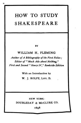 Download How to study Shakespeare