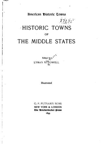 Historic towns of the middle states