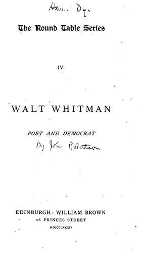 Download Walt Whitman, poet and democrat.