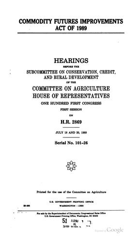 Commodity Futures Improvements Act of 1989