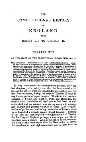 Download The constitutional history of England from the accession of Henry VII to the death of George II