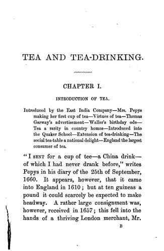 Download Tea and tea drinking