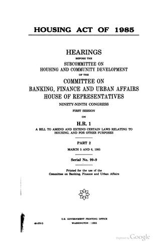Housing Act of 1985