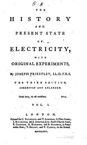 Download The history and present state of electricity