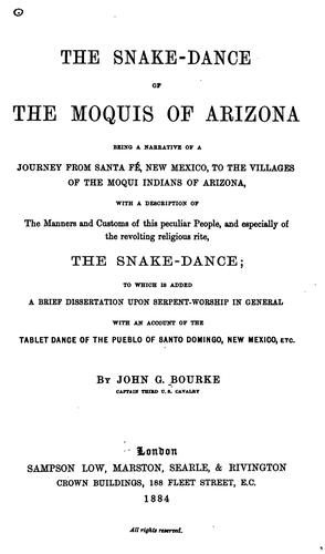 Download The snake-dance of the Moquis of Arizona