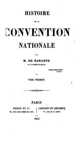 Download Histoire de la Convention nationale