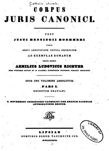Download Corpus juris canonici
