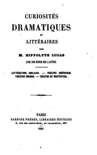 Download Curiosités dramatiques et littéraires