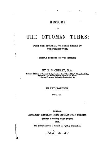 Download History of the Ottoman Turks
