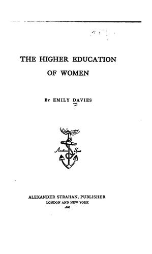 Download The higher education of women.