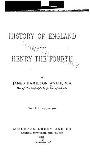 Download History of England under Henry the Fourth.