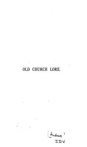 Old church lore.