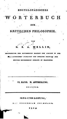 Download Encyclopädisches Wörterbuch der kritischen Philosophie